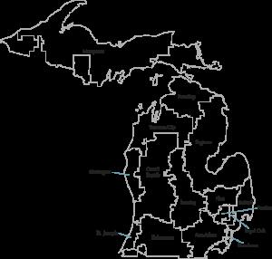 Map of Michigan HRRs